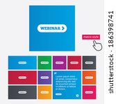 webinar with arrow sign icon....   Shutterstock . vector #186398741