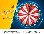 casino spinning fortune wheel... | Shutterstock .eps vector #1863987577