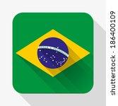 simple flat icon brazil flag....