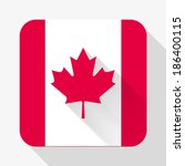 simple flat icon canada flag....
