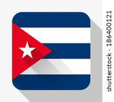 simple flat icon cuba flag....