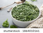 Creamed Spinach With Garlic In...