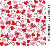 seamless hearts pattern. hand... | Shutterstock .eps vector #186405755
