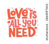 love is all you need vector... | Shutterstock .eps vector #1864097641