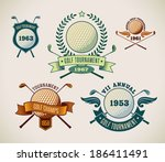 Set Of Vintage Styled Golf...