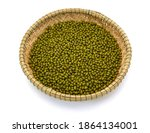 Mung Beans Basket Isolated On...