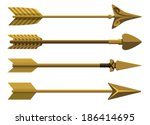 Set of decorative arrows. Vector illustration.