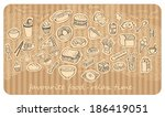 cartoon food illustration | Shutterstock .eps vector #186419051