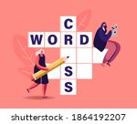 tiny female characters with... | Shutterstock .eps vector #1864192207