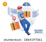 delivery service vector...