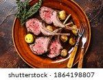 Roasted Lamb Meat Rib Chop...