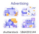 advertsing concept set.... | Shutterstock .eps vector #1864201144
