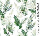 watercolor evergreen christmas... | Shutterstock . vector #1864220167