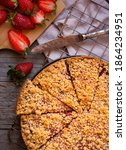 Sweet Baked Crumble Cake With...