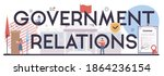 governement relations... | Shutterstock .eps vector #1864236154
