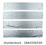 Stripes Of Silver Grey Adhesive ...