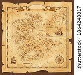 Old Map  Vector Worn Parchment...