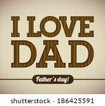 fathers day design over brown... | Shutterstock .eps vector #186425591