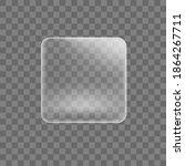 transparent glued square... | Shutterstock .eps vector #1864267711