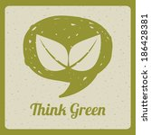 ecology design over beige... | Shutterstock .eps vector #186428381