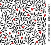 valentines seamless floral... | Shutterstock .eps vector #1864288294