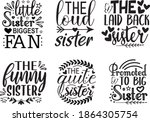 Sister Quotes Design Vector ...