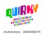 quirky playful style childish... | Shutterstock .eps vector #1864308274