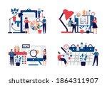 set of interior designers... | Shutterstock .eps vector #1864311907