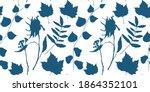 botanical vector seamless... | Shutterstock .eps vector #1864352101