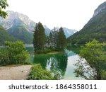 Lago Del Predil  Lake In Italy  ...