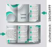 brochure template with abstract ... | Shutterstock .eps vector #186436499
