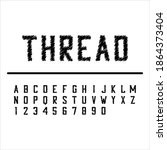embroidery thread font.... | Shutterstock .eps vector #1864373404