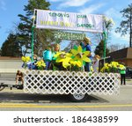 Small photo of GLOUCESTER, VA - April 5, 2014: 28th annual Daffodil parade, The hooves,Paws & Claws 4-H Club in the parade, The Daffodil fest and Parade is a regular event held each spring