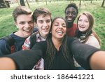 Group of multiethnic teenagers...