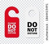 do no disturb handle door sign. ...   Shutterstock .eps vector #1864415491