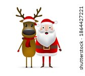 christmas santa claus and... | Shutterstock . vector #1864427221