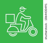 shipping delivery man riding... | Shutterstock .eps vector #1864430491