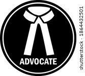 advocate symbol with text.... | Shutterstock .eps vector #1864432501