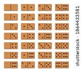dominoes   complete game set ...   Shutterstock .eps vector #1864433581