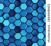 Seamless Pattern Of Blue...