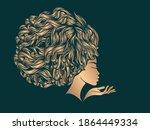 hair salon and beauty studio... | Shutterstock .eps vector #1864449334