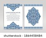 blue and white luxury... | Shutterstock .eps vector #1864458484