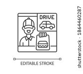 drive through window linear... | Shutterstock .eps vector #1864460287