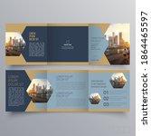 tri fold brochure template...   Shutterstock .eps vector #1864465597