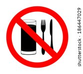 """prohibitory sign """"with food and ... 