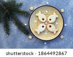 Fish Shaped Linzer Cookies...