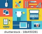 vector set of equipment for...   Shutterstock .eps vector #186450281