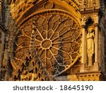 Rosette In Reims Cathedral ...