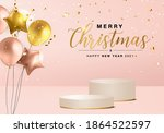 merry christmas and happy new... | Shutterstock .eps vector #1864522597