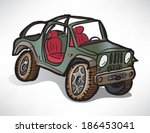 Drawing Off Road Vehicle Jeep...